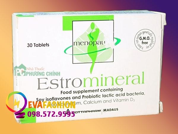 Estromineral cải thiện triệu chứng tiền mãn kinh có an toàn không? Giá bán?