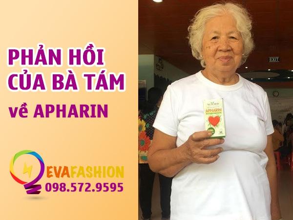 Phản hồi của bàTám tại TPHCM về sản phẩm Apharin