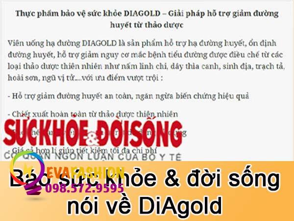 Báo sức khỏe đời sống review về DiAgold