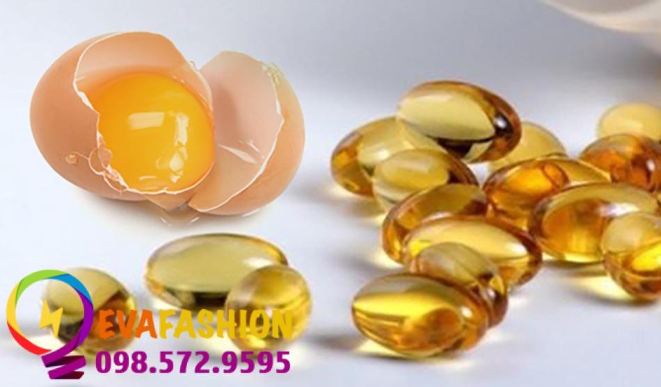 trị da khô bằng lòng đỏ trứng và vitamin E