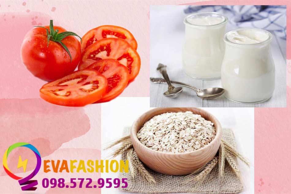 Cách làm kem trắng da từ cà chua, sữa chua và bột yến mạch