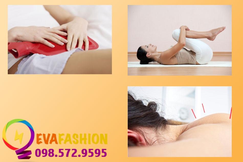 Chườm nóng, tập yoga và châm cứu cũng giúp nhanh sạch kinh
