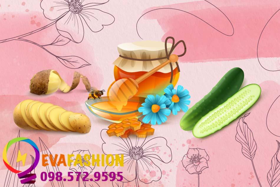 Mẹo làm mờ vết nhăn vùng mắt bằng dưa chuột, khoai tây và mật ong