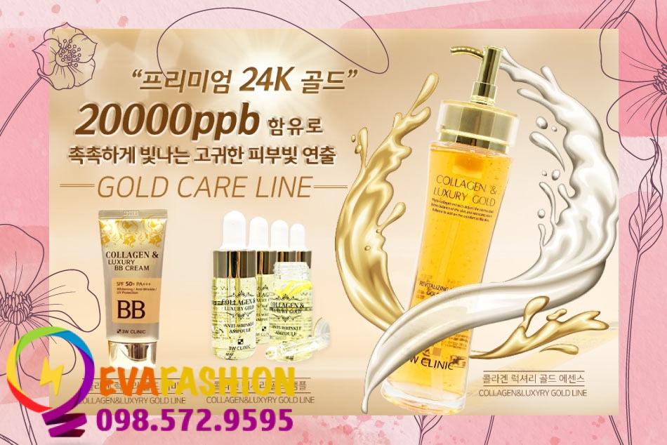 Tinh chất vàng 24K có trong Collagen Luxury Gold