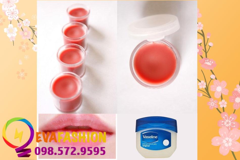 Công thức làm son dưỡng môi bằng Vaseline