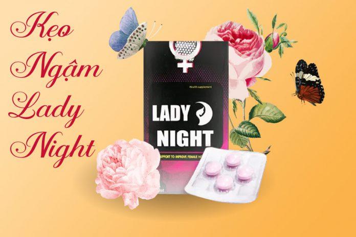 Hình ảnh mặt trước sản phẩm kẹo ngậm Lady Night