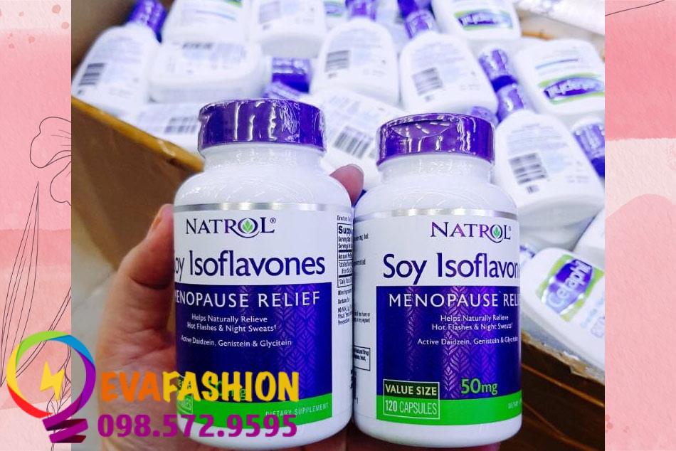 Hình ảnh viên uống Natrol Soy Isoflavones