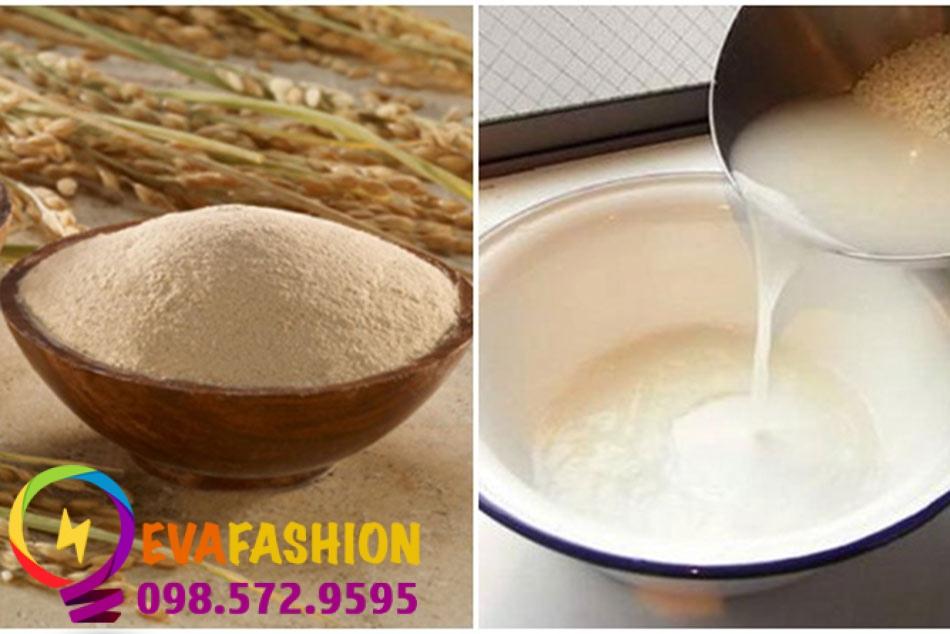 Hình ảnh đắt mặt bằng nước vo gạo và bột mỳ