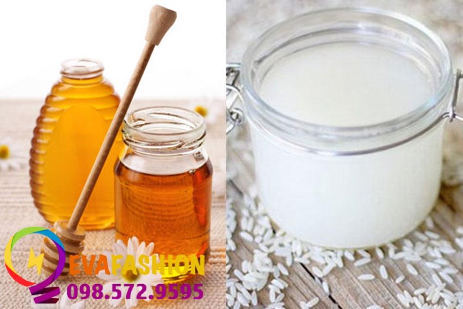 Hình ảnh đắt mặt bằng nước vo gạo và mật ong