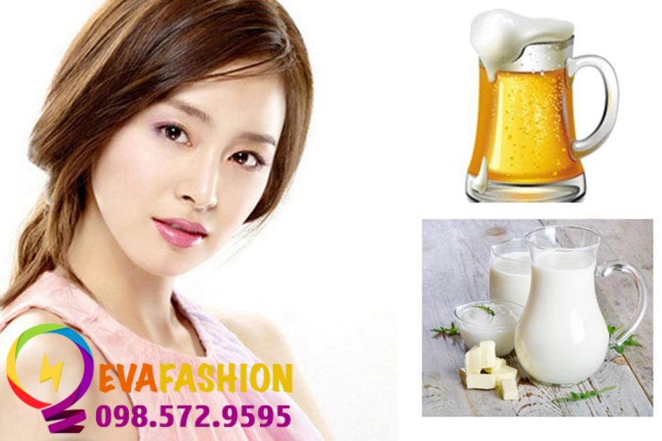Sự kết hợp giữa bia và sữa tươi mang lại cho bạn làn da sáng mịn