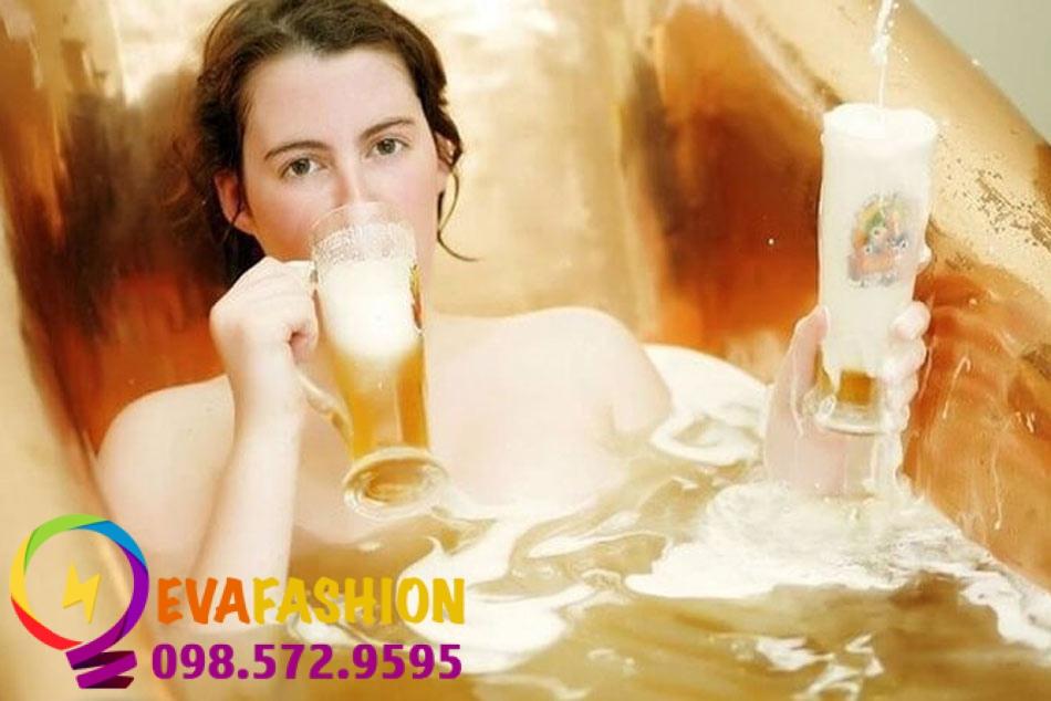 Hình ảnh làm trắng da bằng bia