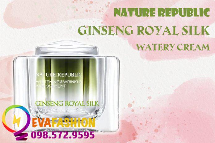 Nature Republic Ginseng Royal Silk Watery Cream là dòng kem dưỡng da cao cấp và sang trọng.