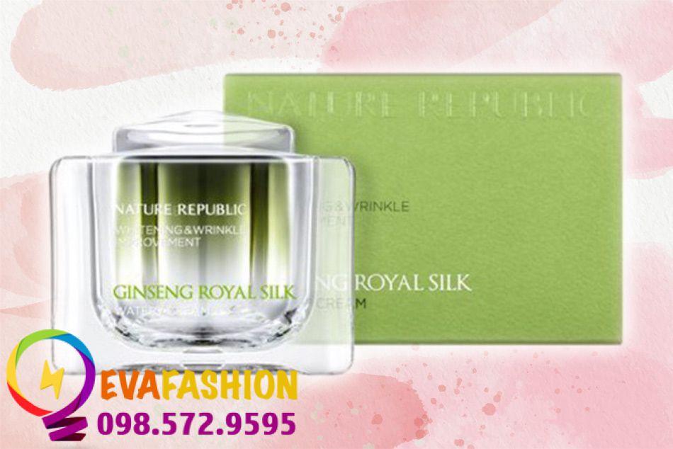 Kem dưỡng da Nature Republic Ginseng Royal Silk Watery Cream thúc đẩy quá trình tái tạo tế bào da.