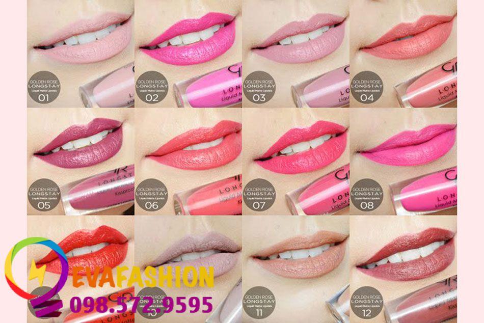 Son kem Golden Rose Longstay Liquid Matte Lipstick được bổ sung vitamin E nên mang lại độ căng mềm cho môi.