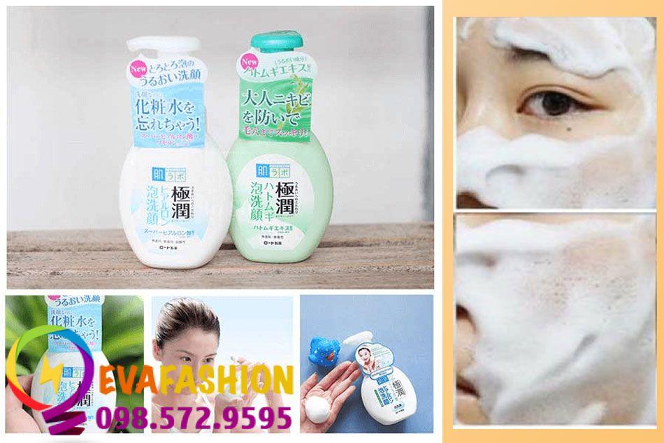 Công dụng sữa rửa mặt Hada Labo Gokujyun Foaming Cleanser