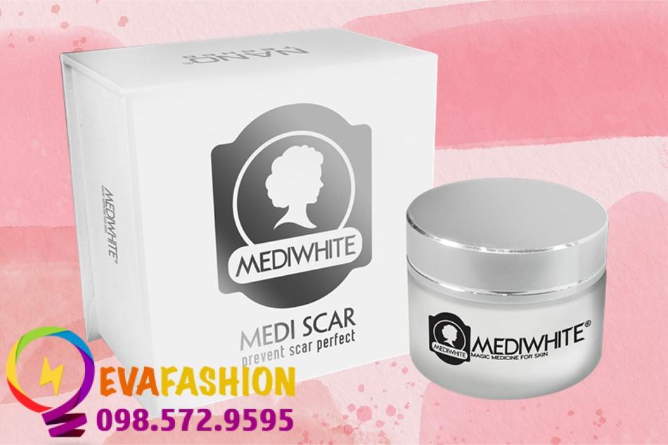 Kem trị sẹo Medi White làm liền các vết sẹo, vết thâm, giúp tế bào da khỏe mạnh, trắng hồng từ sâu bên trong.