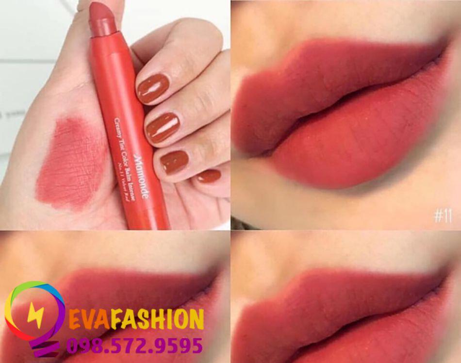 son bút chì Mamonde Creamy Tint Color Balm Màu 11 – Velvet Red