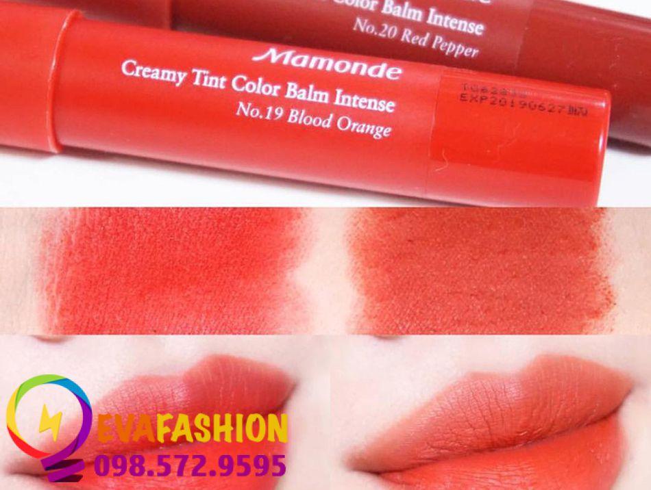 son bút chì Mamonde Creamy Tint Color Balm Màu 19 – Blood Orange