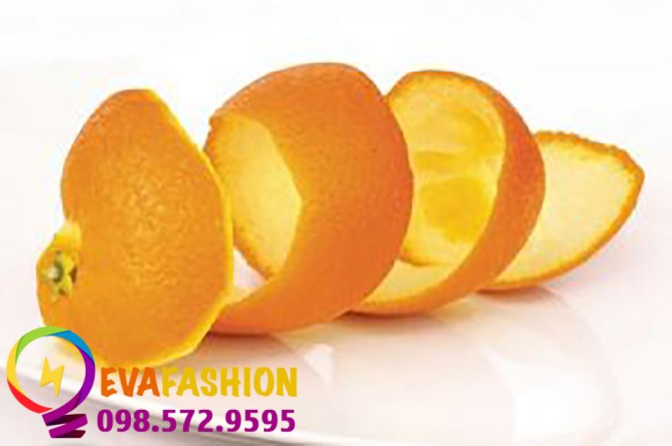 trị thâm vùng kín sau sinh bằng vỏ cam