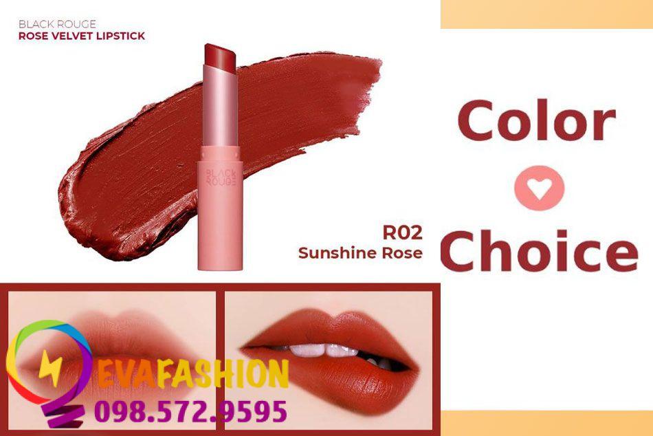 Black Rouge Rose Velvet Lipstick R02