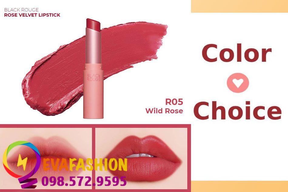 Black Rouge Rose Velvet Lipstick R05
