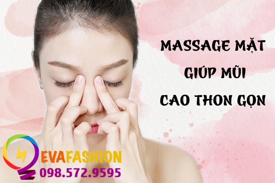 Massage mặt giúp mũi cao và thon gọn hơn