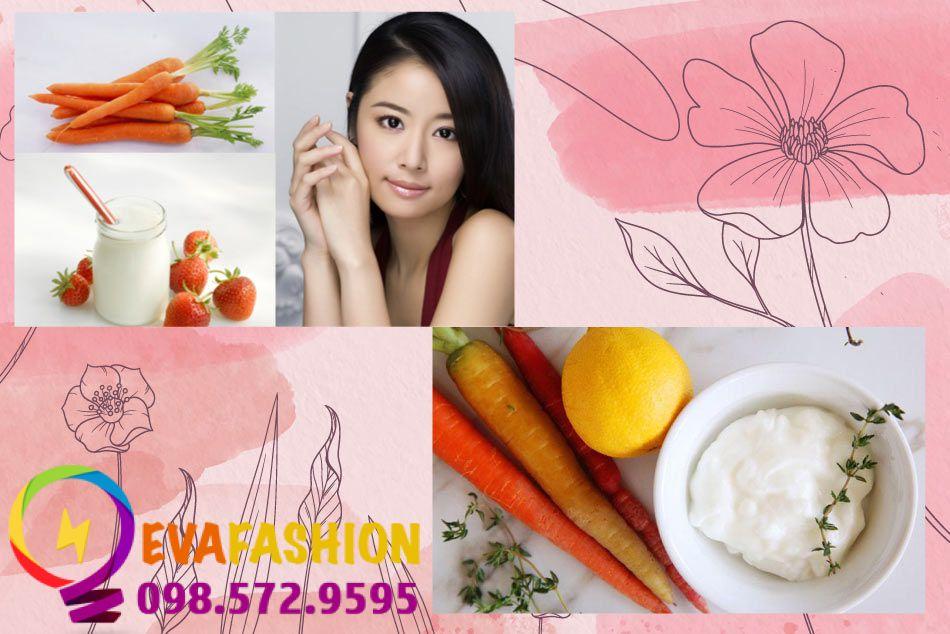 Dưỡng trắng da toàn thân bằng sữa chua và cà rốt