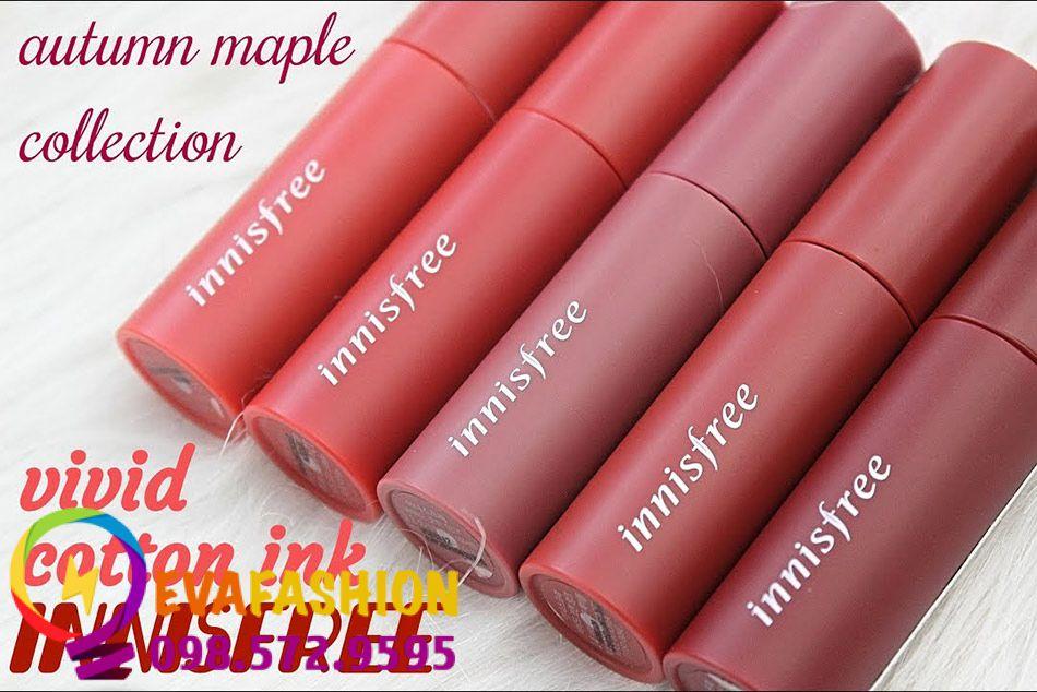 Hình ảnh son kem Innisfree Vivid Cotton Ink