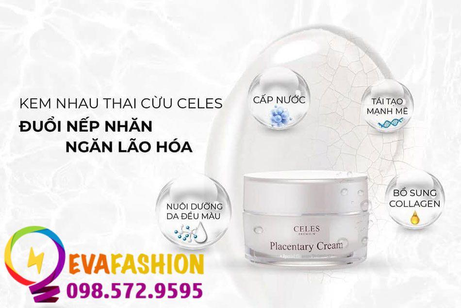 Hình ảnh kem dưỡng trắng da trị nám Celes Premium Placentary Cream