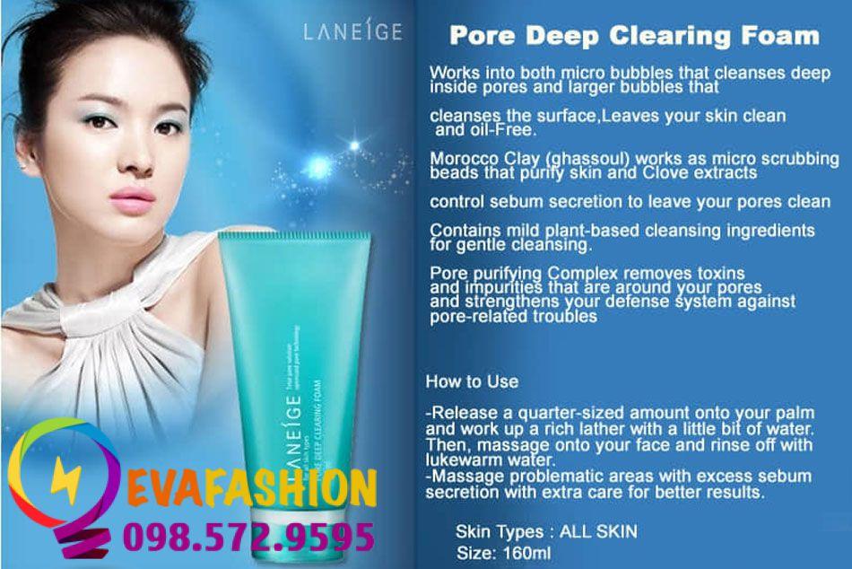 Sữa rửa mặt Laneige Pore Deep Cleansing Foam