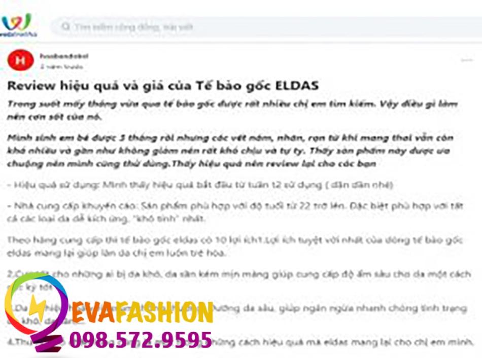 Serum tế bào gốc Eldas Aura