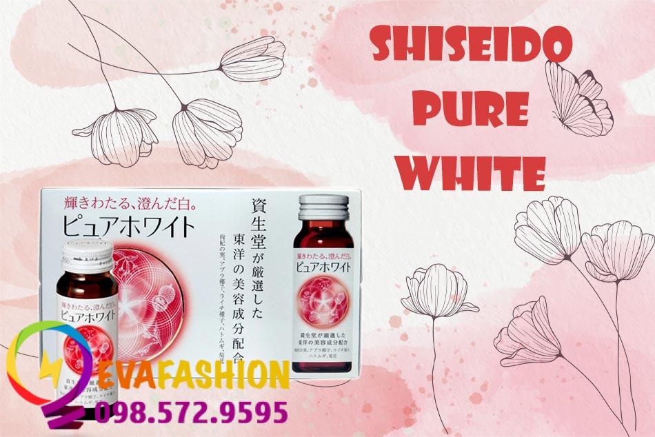 Thành phần trong Nước uống trắng da Shiseido Pure White rất lành tính