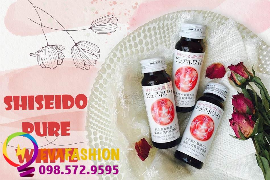 Nước uống trắng da Shiseido Pure White có tốt không?