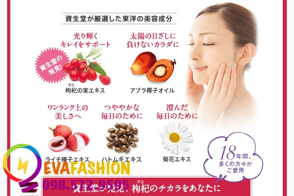 Các thành phần tự nhiên có trong Shiseido Pure White