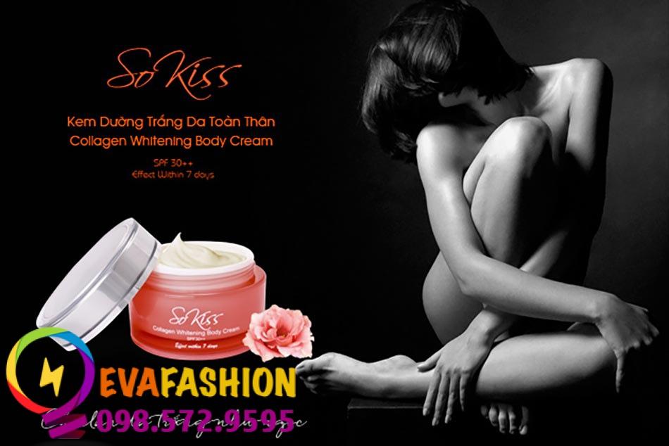 Hình ảnh kem dưỡng trắng da Sokiss Collagen Whitening Body Cream