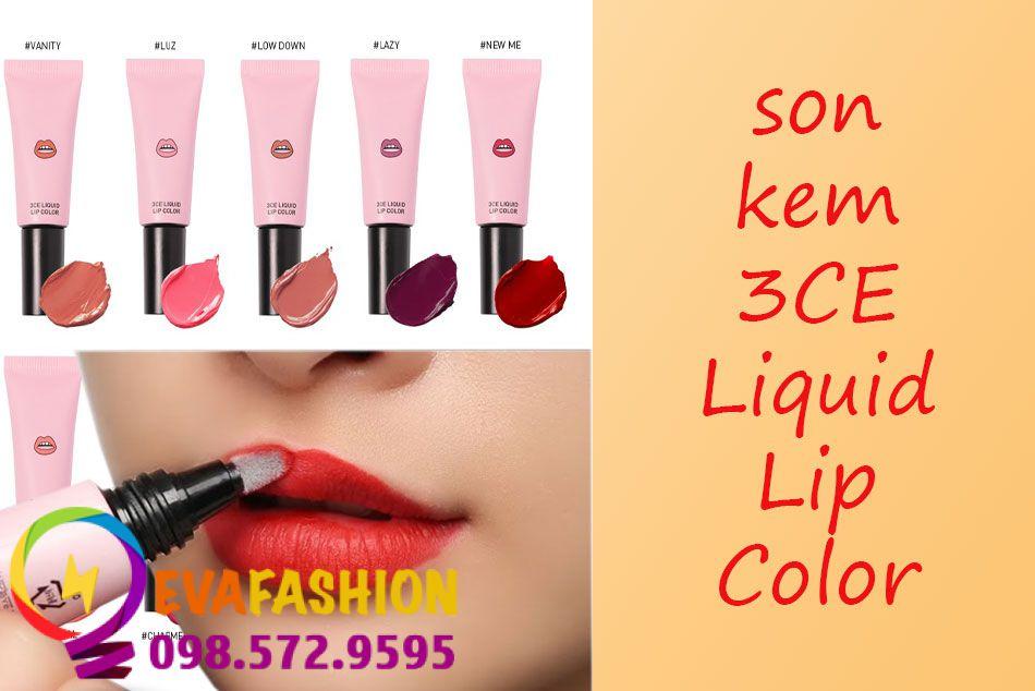Son kem 3CE Liquid Lip Color