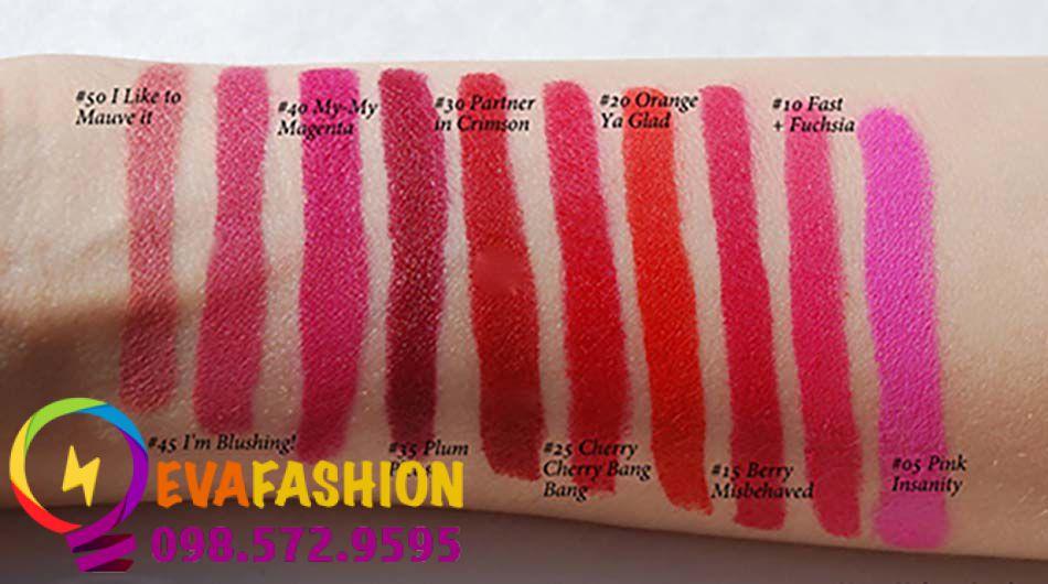 Bảng màu son maybelline color blur lip pencil
