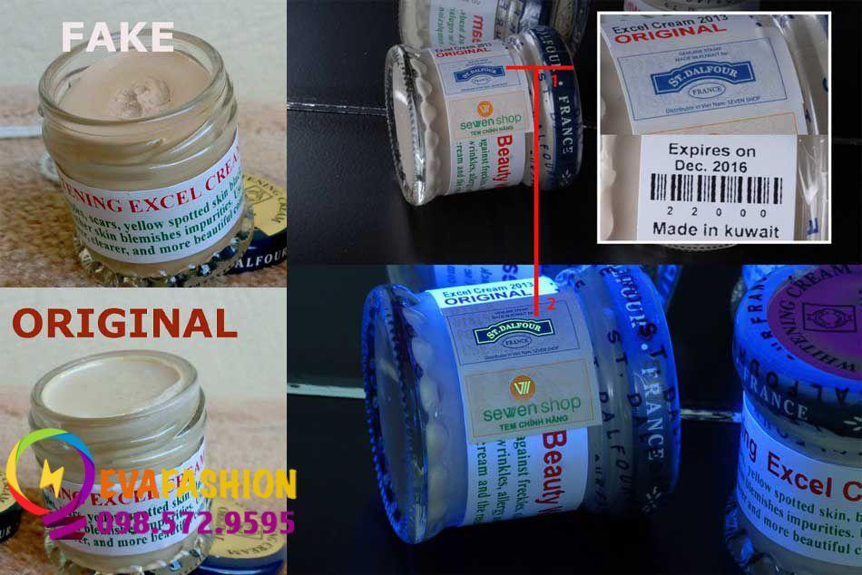 Phân biệt kem dưỡng St. Dalfour Beauty Whitening Excel Cream thật-giả