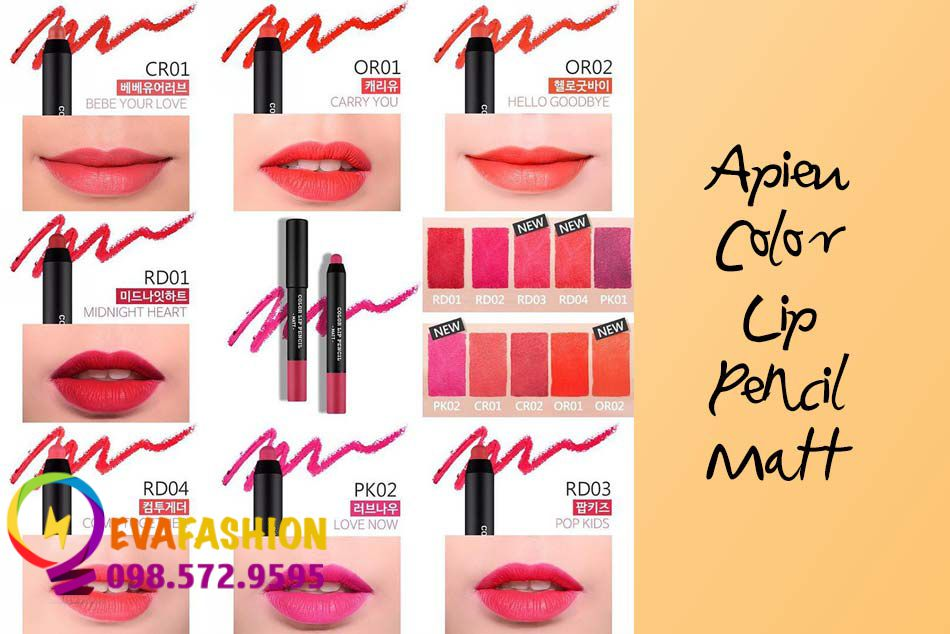Hình ảnh son bút chì A'pieu Color Lip Pencil Matt