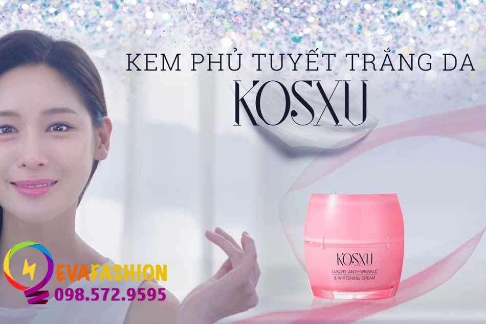 Kem phủ tuyết trắng da Kosxu Luxury Anti-Wrinkle & Whitening Cream