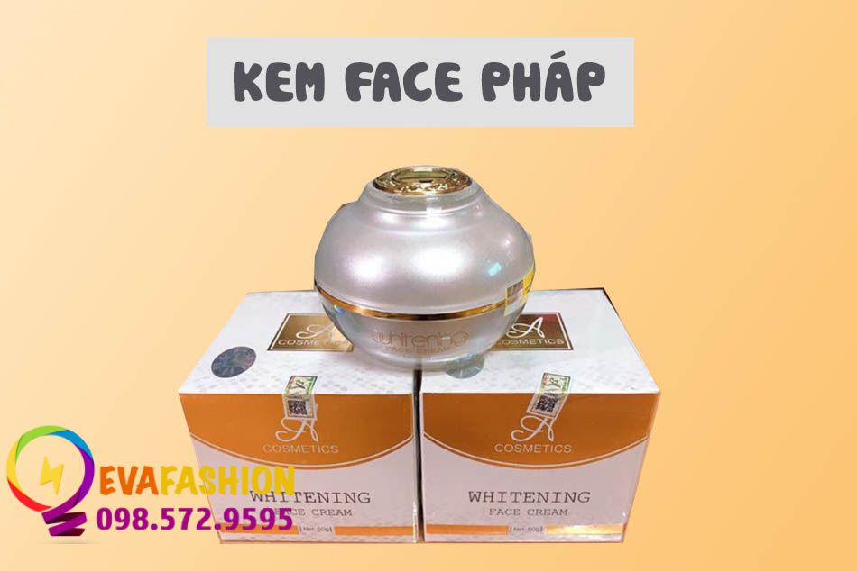 Hình ảnh trọn bộ sản phẩm Kem Face Pháp