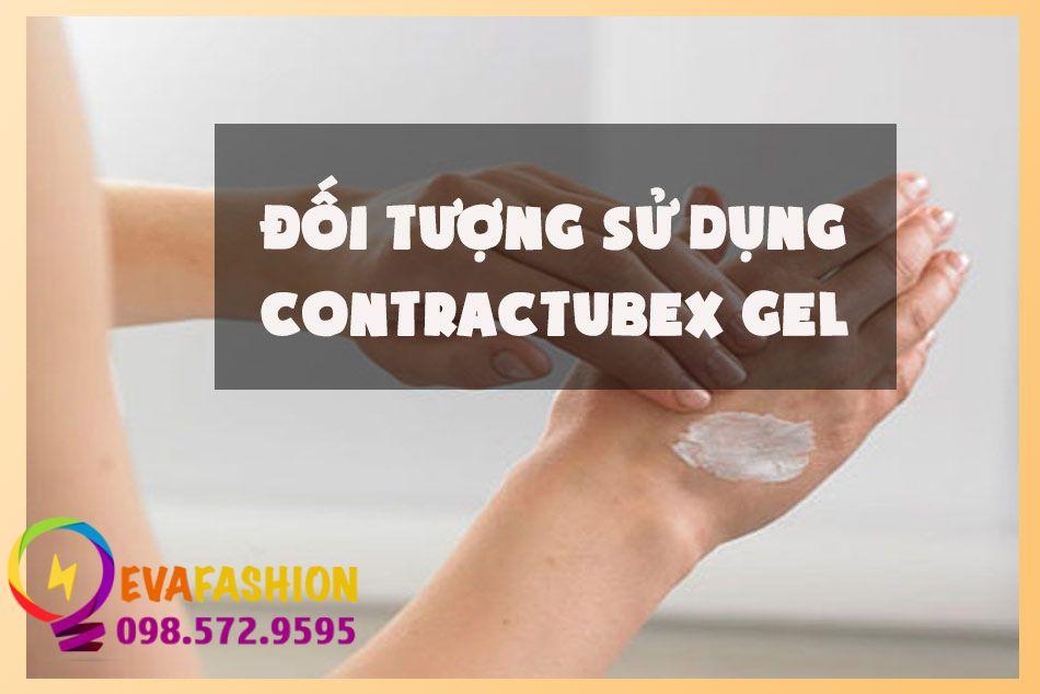 Đối tượng sử dụng Contractubex