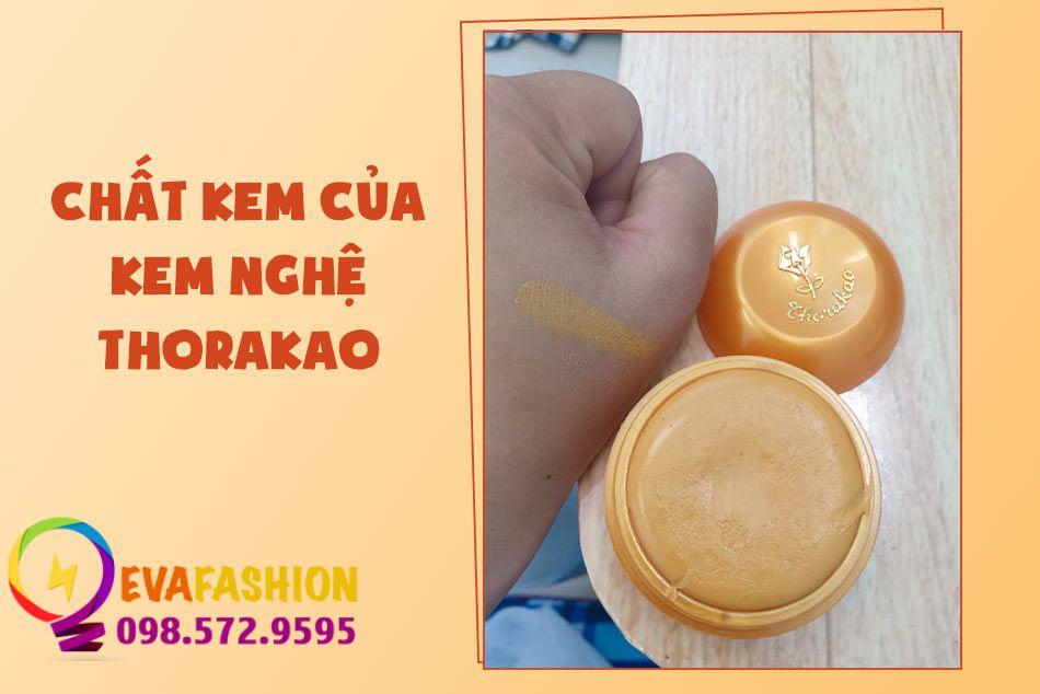 Chất kem của kem nghệ Thorakao
