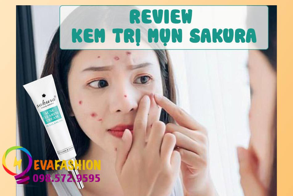 Review kem trị mụn Sakura