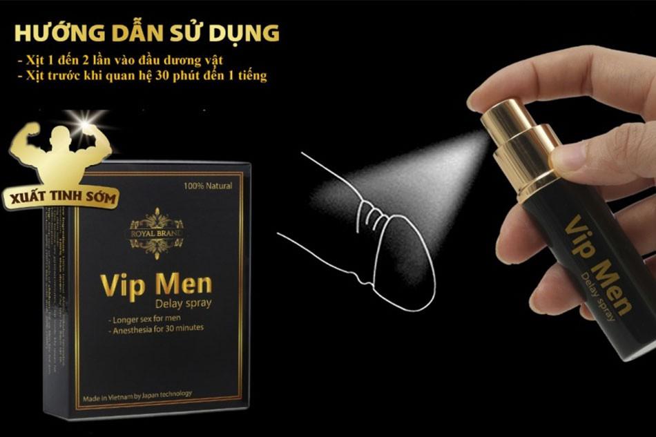 Hướng dẫn sử dụng chai xịt Vip Men