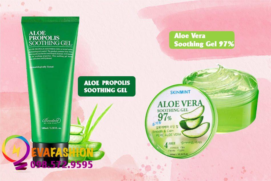 So sánh Aloe Propolis Soothing Gel và Aloe Vera Soothing Gel 97%
