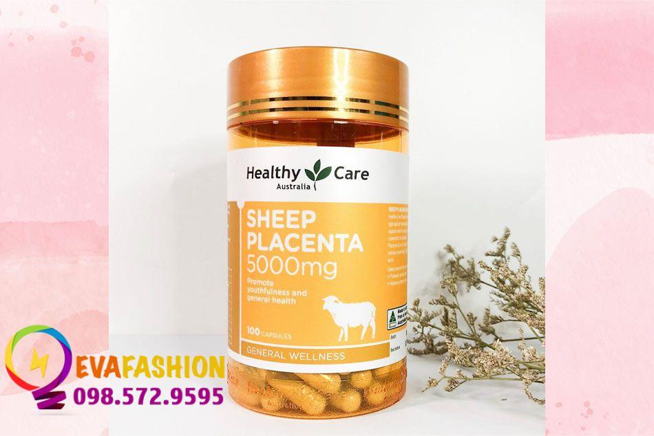 Hình ảnh mặt trước viên uống nhau thai cừu Healthy Care Sheep Placenta