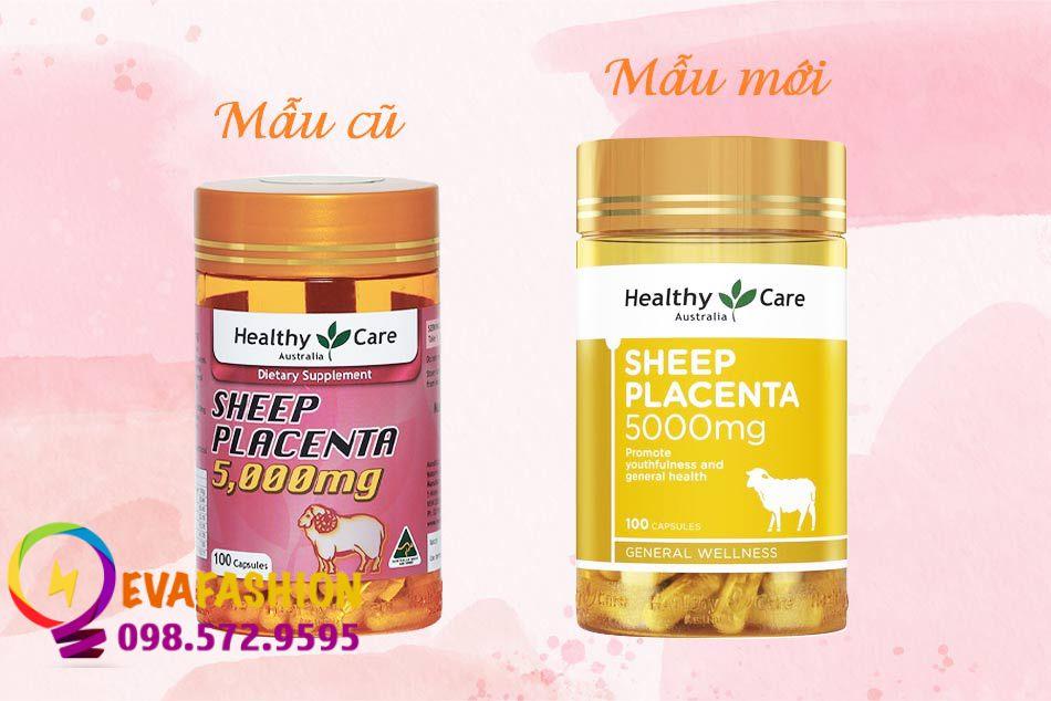 Mẫu cũ và mẫu mới Healthy Care Sheep Placenta