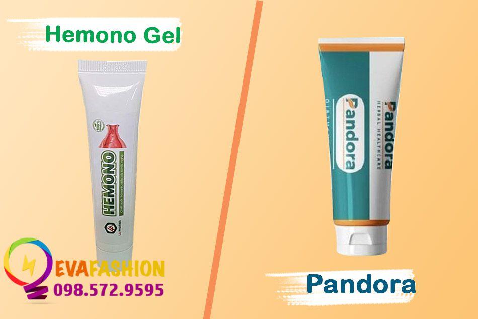 So sánh Hemono Gel và kem Pandora