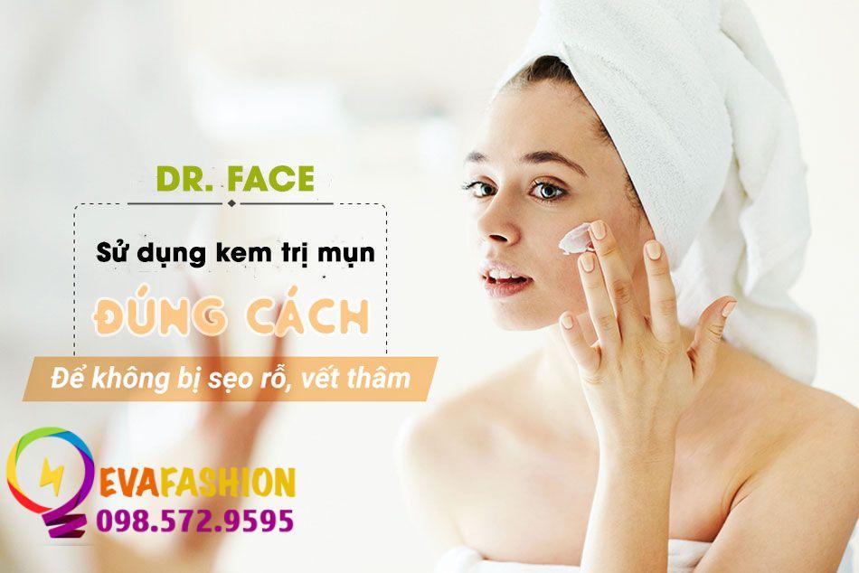 Hướng dẫn sử dụng Kem trị mụn Dr Face